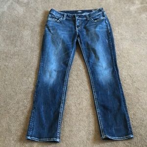 Silver Jeans suki mid straight jeans size 16